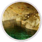 Crystal Cave In Hamilton Parish Bermuda Round Beach Towel