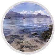 Cuillin Mountains From Elgol Round Beach Towel