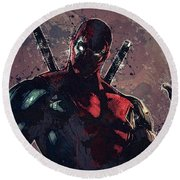 Deadpool Round Beach Towel