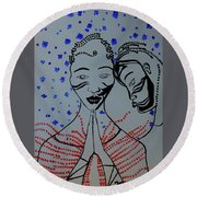 Dinka Marriage  South Sudan Round Beach Towel