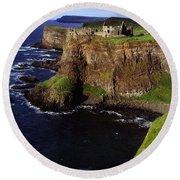 Dunluce Castle, Co. Antrim, Ireland Round Beach Towel