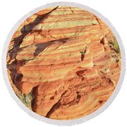 Early Morning In Valley Of Fire Round Beach Towel