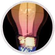 Energy Efficient Led Light, X-ray Round Beach Towel