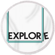 Explore Round Beach Towel