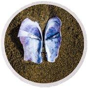 Fallen Butterfly Round Beach Towel