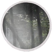 Forest Primeval Round Beach Towel