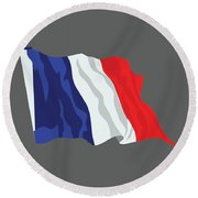 France Flag Round Beach Towel