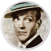 Fred Astaire Hollywood Legend Round Beach Towel