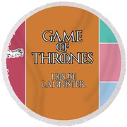 Game Of Thrones. Lannister. Round Beach Towel
