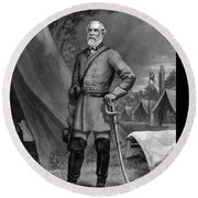 General Robert E Lee Round Beach Towel by War Is Hell Store