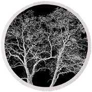 Ghost Trees Round Beach Towel