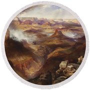 Grand Canyon Of The Colorado River Round Beach Towel