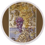 Grapes And Olives Round Beach Towel