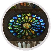 Graphic Art From Photo Library Of Photographic Collection Of Christian Churches Temples Of Place Of  Round Beach Towel