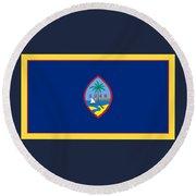 Guam Flag Round Beach Towel