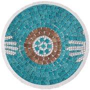 Hans Mosaic Round Beach Towel