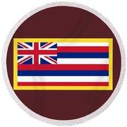 Hawaii Flag Round Beach Towel