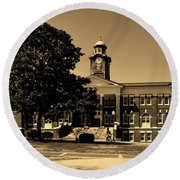 Historic White Hall - Tuskegee University Round Beach Towel