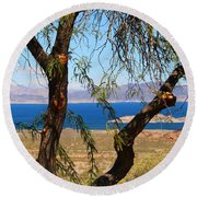 Hoover Dam Visitor Center Round Beach Towel