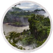 Iguazu Falls - South America Round Beach Towel