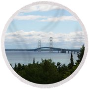 In The Distance Round Beach Towel