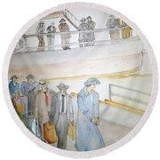 Italians  Ellis Island  Prohibition Album Round Beach Towel