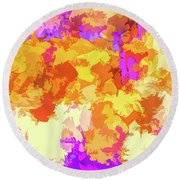 It's An Abstract Day Round Beach Towel