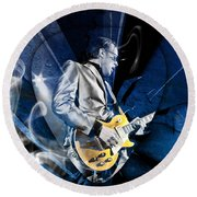 Joe Bonamassa Blues Guitarist Art Round Beach Towel