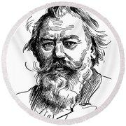 Johannes Brahms 1833-1897 Round Beach Towel