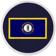 Kentucky Flag Round Beach Towel