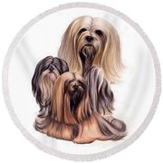 Lhasa Apso Triple Round Beach Towel