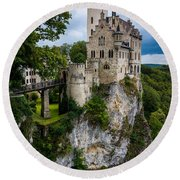 Lichtenstein Castle - Baden-wurttemberg - Germany Round Beach Towel