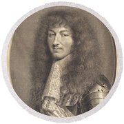 Louis Xiv Round Beach Towel