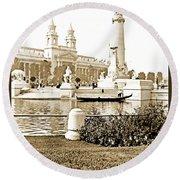Louisiana Monument, 1904 World's Fair Round Beach Towel