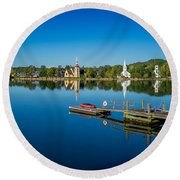 Mahone Bay Round Beach Towel