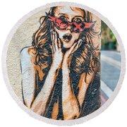 Marseille Street Art, Le Panier And Le Cours Julien Round Beach Towel