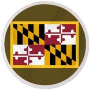 Maryland Flag Round Beach Towel