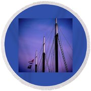 3 Masts In Halifax Round Beach Towel