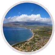 Maui Aerial Round Beach Towel