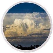 May Nebraska Storm Cells Round Beach Towel