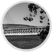 Mcnary Dam Round Beach Towel