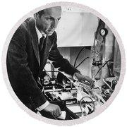 Melvin Calvin, American Chemist Round Beach Towel