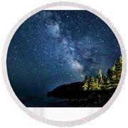 Milky Way  Round Beach Towel