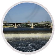 Minneapolis - Saint Anthony Falls Round Beach Towel