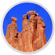 Moab Landscape Round Beach Towel