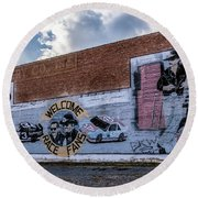 Mural - Downtown Bristol Tennessee/virginia Round Beach Towel