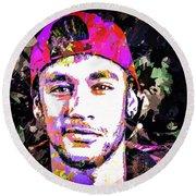 Neymar Round Beach Towel