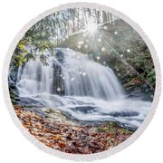 North Carolina - Dupont State Forest - Waterfall Collection Round Beach Towel