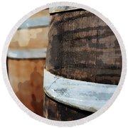 Oak Wine Barrel Round Beach Towel