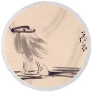 Oil Painting Round Beach Towel